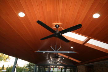 Timber Lined Ceiling Lighting Light Wells