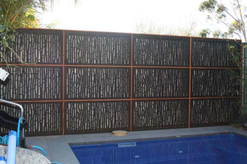 Screening over existing fences for Pool fence screening ideas